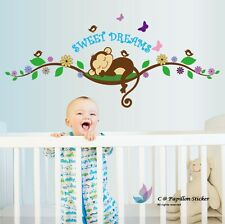 Removable Monkey/Butterfly/Bird/Flower/Tree/nursery children's/baby wall sticker
