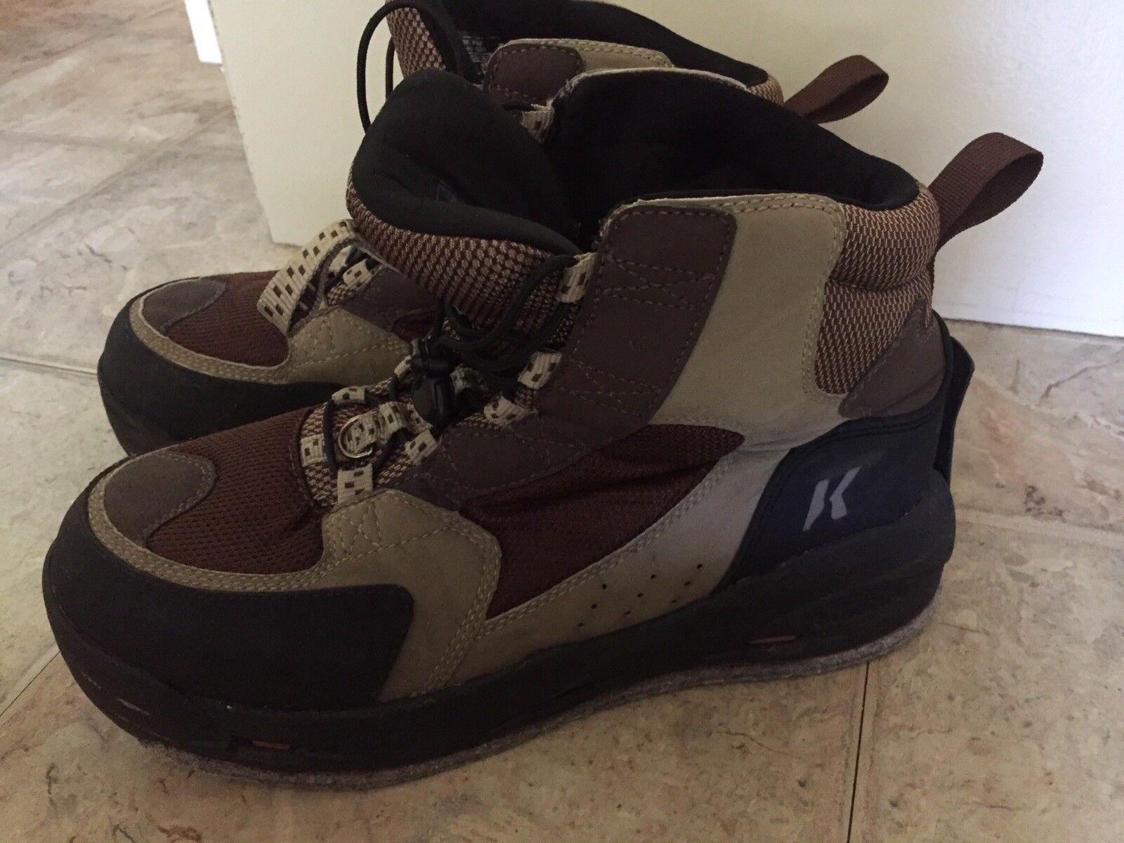 Kortex Omnitrax Redside Men's Boots Size 13 Felt Sole Interchangable