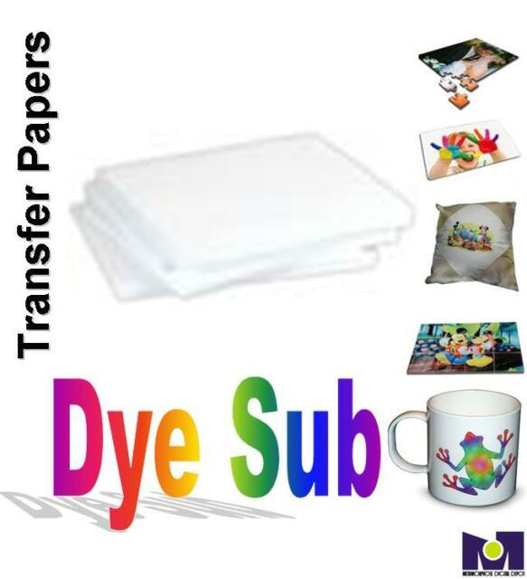 """100-PCS 8.5""""x11"""" SUBLIMATION INK TRANSFER PAPER HEAT PRESS FOR EPSON PRINTERS"""