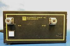 Microwave Power Inc Model As Hj 105 Rf Power Amplifier Set Untested