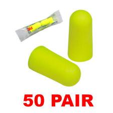 3m 312 1250 Noise Reduction 33db Yellow Neon Foam Ear Plugs 50 Pair