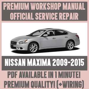 Details about *WORKSHOP MANUAL SERVICE & REPAIR GUIDE for NISSAN MAXIMA  2009-2015 +WIRING