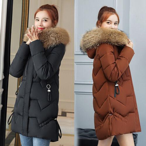 2019 Women Winter Hooded coat 100/% Real Fur Collar Down Coat Down Jacket Parka