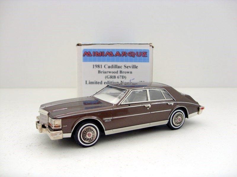 Minimarque 1 43 grb 67D 1981 cadillac  seville marron  le meilleur service après-vente