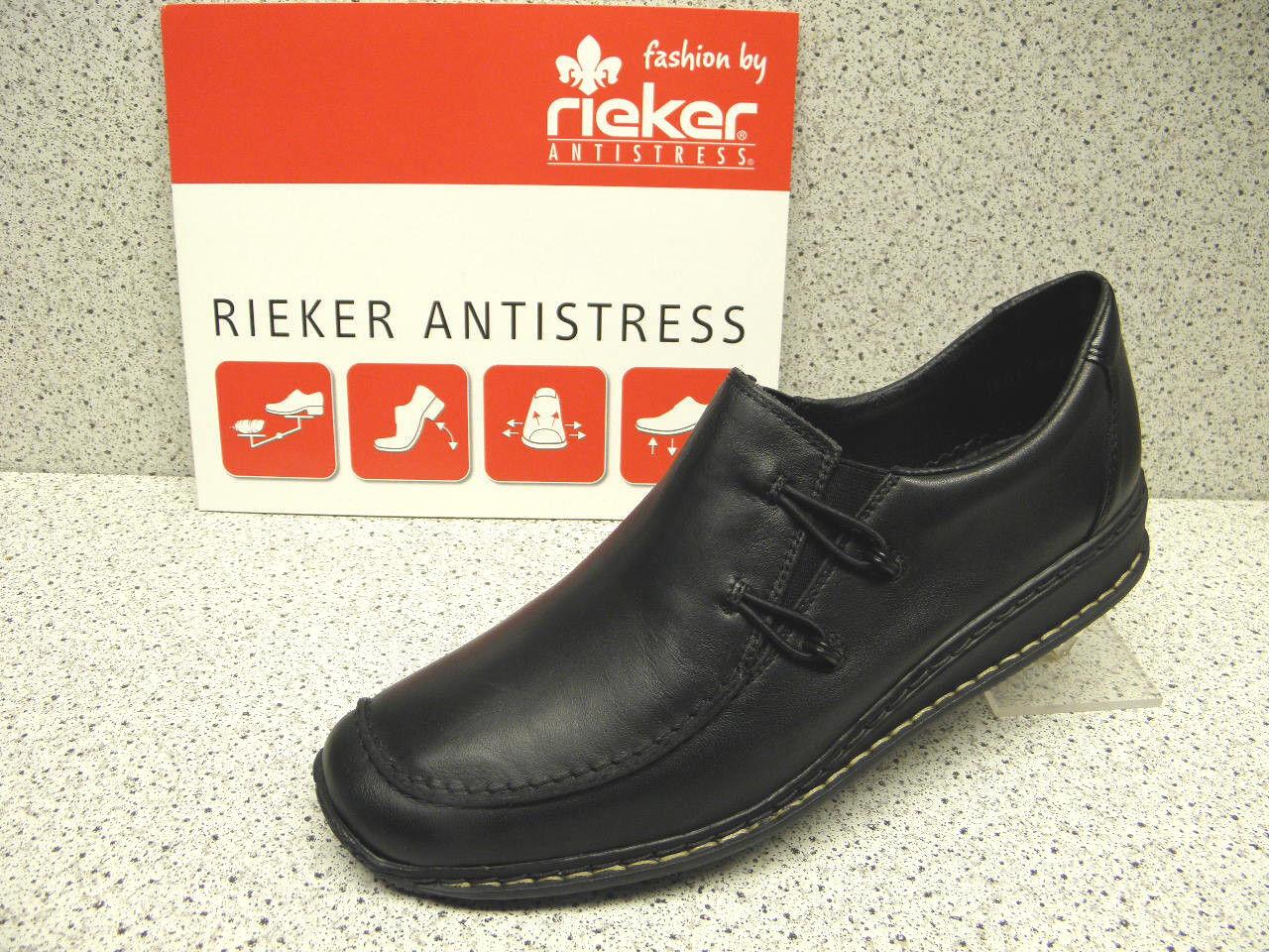 Rieker ®  rotuziert schwarz schwarz schwarz Top Preis bequem  (R148) 0564af