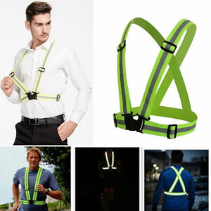 Safety High Visibility Vest Security Reflective Jacket Night Running Tops Xmas!