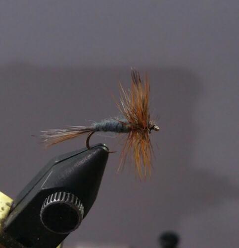 1 Dozen Dry Fly Adams Midge