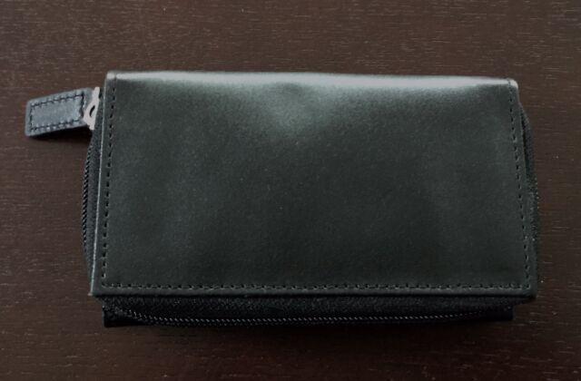 NEW Unused Black Leather Tri-Fold Wallet