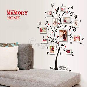 Rbol felicidad marco fotos pegatina de pared vinilo for Tipos de arboles decorativos