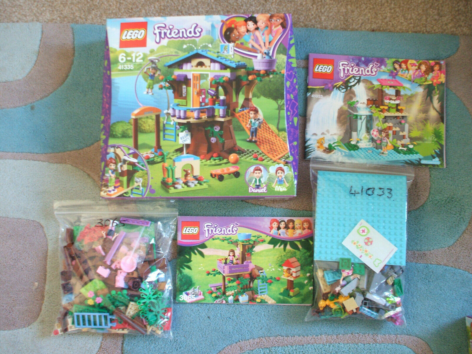 LEGO - FRIENDS MIA'S TREE HOUSE - JUNGLE FALLS RESCUE -OLIVIA'S TREE HOUSE