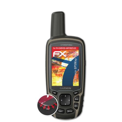 atFoliX 3x Displayschutzfolie für Garmin GPSMap 64sx Schutzfolie matt/&flexibel
