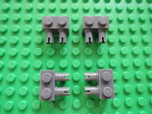 Pins LEGO 10 X pierre 30526 Nouveau Gris Foncé 1x2 avec 2 baignoire