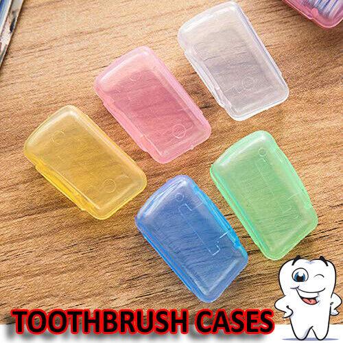 1-10 Portable Toothbrush Head Covers Travel Camping UK Holder Brush Cap Case Set
