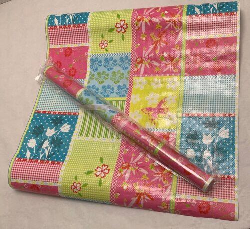 Tischdeko PVC NEU Tischläufer Patchwork Deko 50cm breit 250cm lang Mehrfarbig
