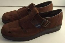 "Easy Spirit Anti-Gravity Nubuck Brown Suede Shoes ""Brea"" Size 8.5 D Wide"
