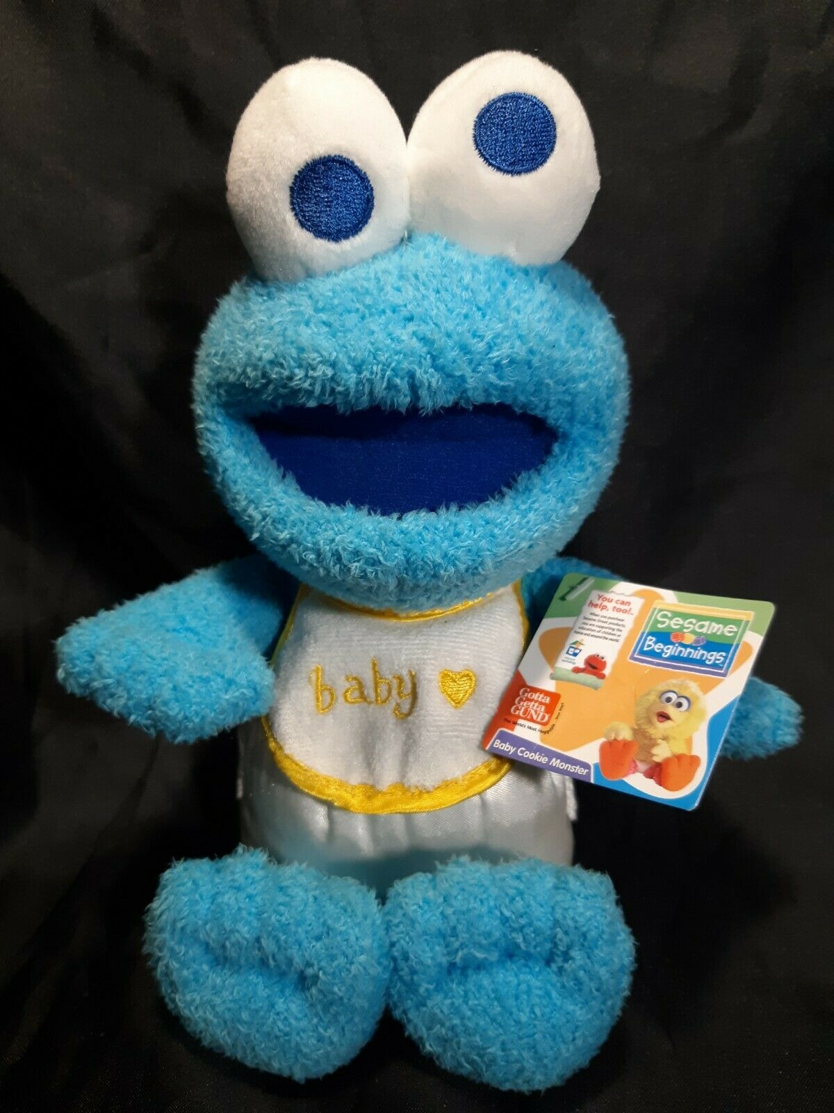 Nwt Gund Sesame Beginnings Baby Cookie Monster Plush 10 5 Free Shipping For Sale Online