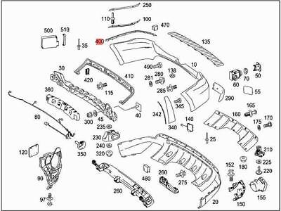Mercedes Benz Genuine Trim Molding 164-885-14-21