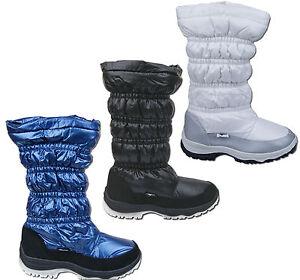 Para-Mujer-Nuevo-cremallera-Piel-forro-polar-caliente-del-invierno-Nieve-Botas-libre-UK-FRANQUEO