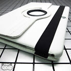 """WHITE Leather Book Case BookCase Cover Pouch for Apple iPad Pro/iPadPro 12.9"""""""