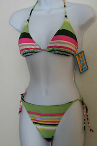 Skechers-bikini-2-piece-bathing-suit-M-Multi-Color-floral-or-striped