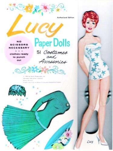 VINTAGE UNCUT 1963 /'LUCY/' PAPER DOLLS~#1 REPRODUCTION~WONDERFUL RARE SET!