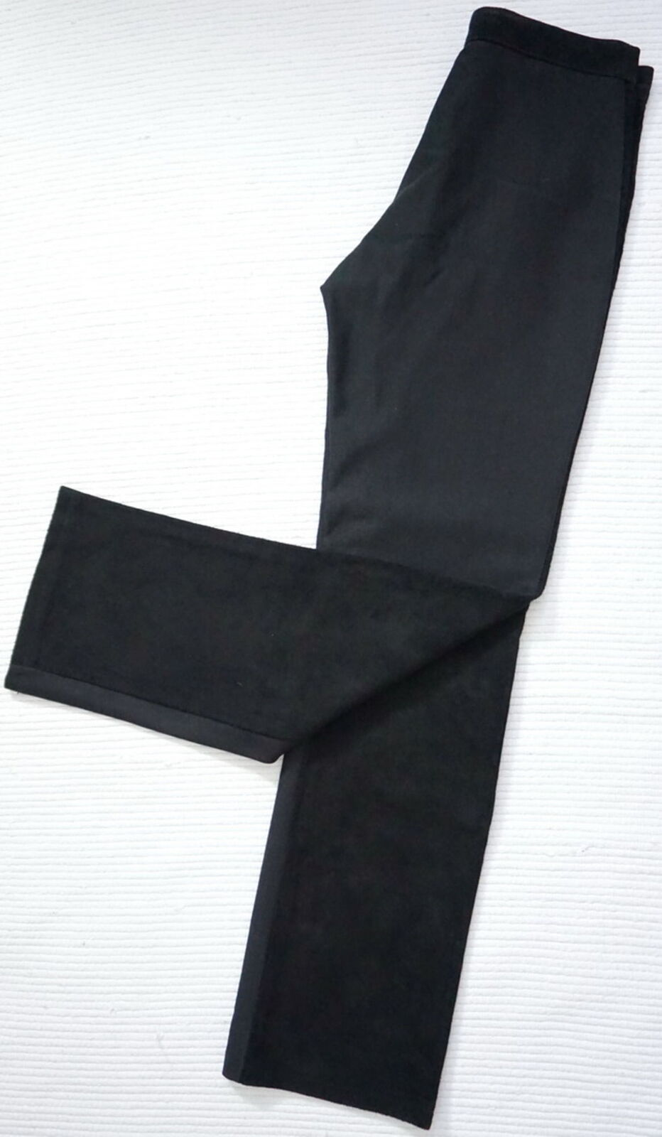 Maurizio moderna stretch Lederhose camoscio nero. Taglia 38 Pantaloni in pelle