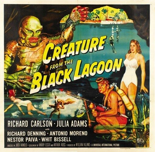 CREATURE FROM THE BLACK LAGOON MOVIE POSTER Vintage 2