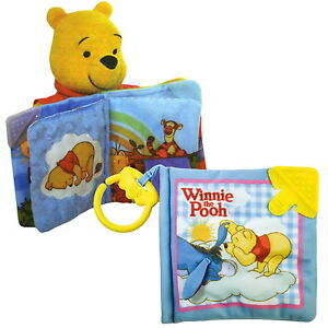 disney baby spielzeug sprechender winnie pooh puuh stoffbuch buch musik tomy neu ebay. Black Bedroom Furniture Sets. Home Design Ideas