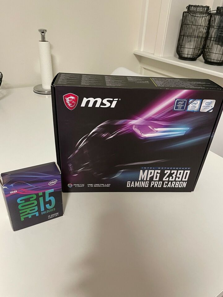 Intel i5-9600K og MSI Z390 , Intel, I5