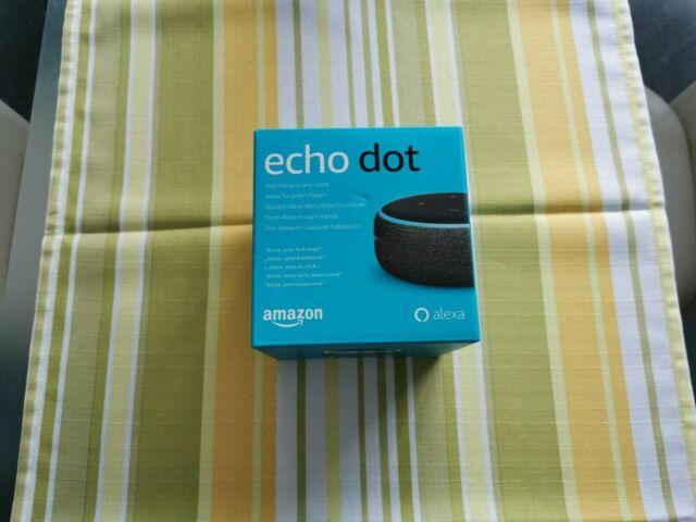 amazon echo dot 3 generation sprachgesteuerter smart lautsprecher mit alexa anthrazit stoff. Black Bedroom Furniture Sets. Home Design Ideas