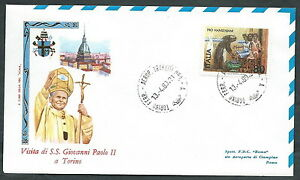 1980 Vaticano Viaggi Del Papa Torino - Rm1-2 Bien Vendre Partout Dans Le Monde