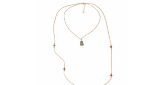 Beauty & The Beast Long Rose Bell Necklace Rose By The Yard