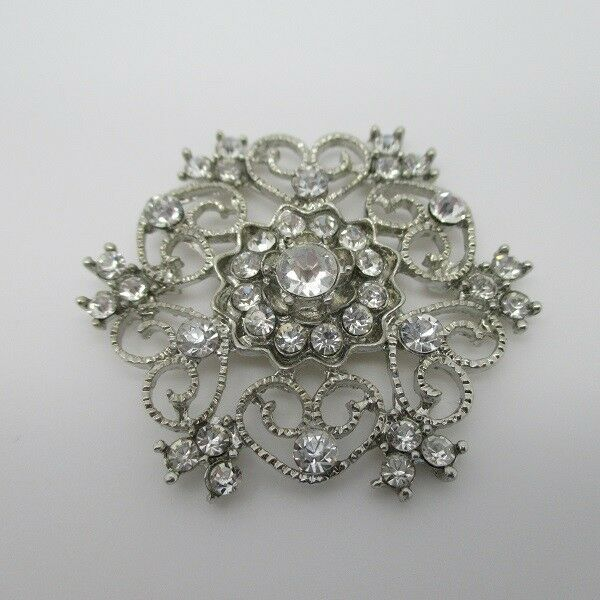 100 X Style Antique Cristal Strass Cluster Broche 40 mm Costume Mariage Invitation