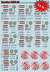 Print-Scale-Calcomanias-1-48-Mikoyan-MIG-29A-MiG-29UB-Irani-48129