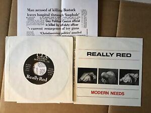 REALLY RED MODERN NEEDS single ORIG. 1ST PRESS KBD HC PUNK Texas DRI CIA DICKS
