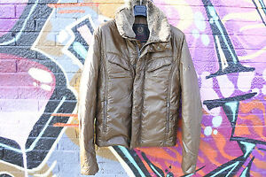 BELSTAFF-DOWN-BOMBER-JACKET-WITH-FUR-SZ-L-RRP-650