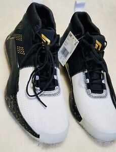 Tormenta construcción naval medianoche  NEW Adidas Dame 5 LA Heem The Dream Men Basketball Shoes Black Gold White  US 18 | eBay