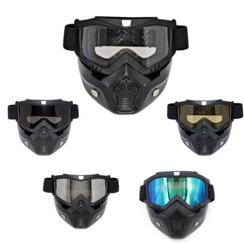 Motorcycle Full Face Mask Goggles Nose Helmet Shield Anti Fog Eyewear Goggle NEW