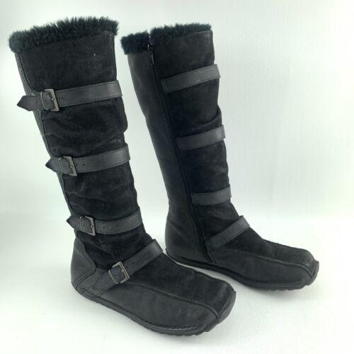 VINTAGE ALDO WOMEN Black Strappy BOOTS KAYLA EUR