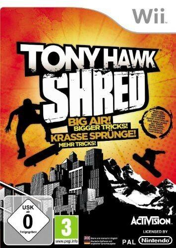 Nintendo Wii jeu - Tony Hawk's Shred seulement Software dans l'emballage utilisé