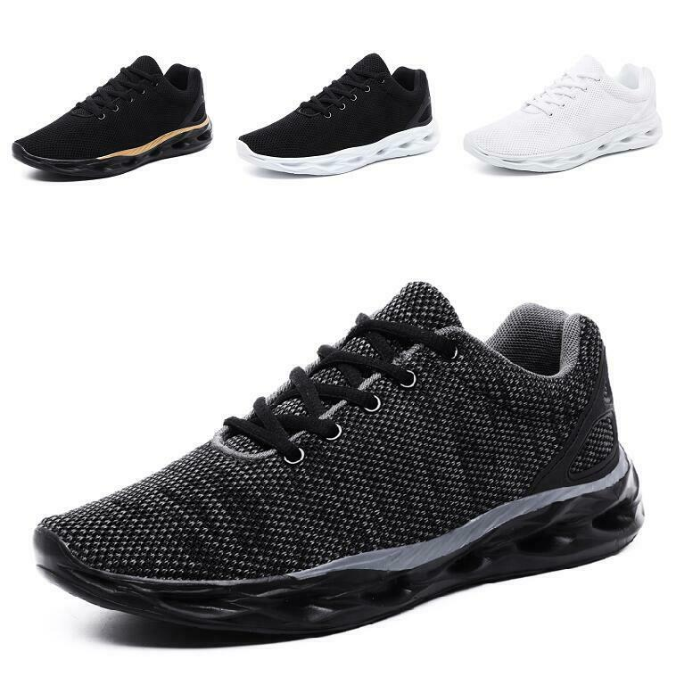 Mens Mesh Breathable Lace up Round Toe Ultra-light Road Running Leisure shoes