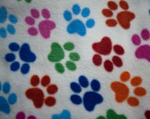 Pet-Blanket-Sofa-Throw-150-cms-Square-Polar-Fleece-Paw-Print
