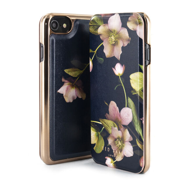 7d4c9d68a40ee Ted Baker® NARDIAR Luxury Branded Mirror Folio Case for iPhone 8 - Arboretum