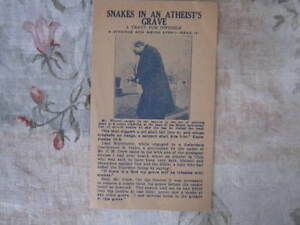Details about RARE OLD Leaflet Gerald B  Winrod Snakes in an Atheist's  Grave Anti Freethought