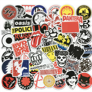 50Pcs-Rock-Bands-Artists-Stickers-For-Skateboard-Luggage-Laptop-Bike-Motorcycle