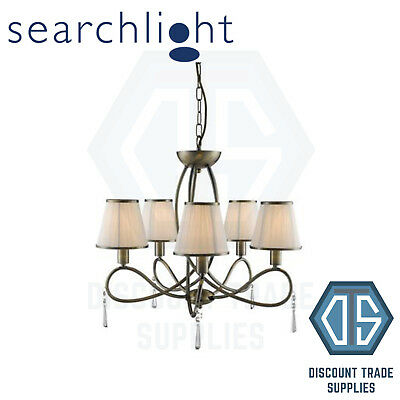 SEARCHLIGHT SIMPLICITY CLASSIC 5 LIGHT CEILING PENDANT LIGHT IN CHROME 1035-5CC