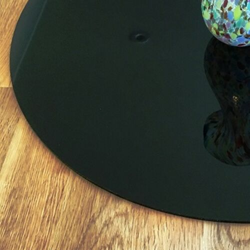 Black Round Surface Protectors Easy Wipe Clean for use on any Table or Desk