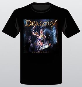 DRAGONY-Shadowplay-T-Shirt-size-XL-sticker-signed-photo-NEW