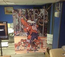 BIG! 43x31 Wayne Gretzky Vinyl Banner POSTER Art Mario Lemieux hockey canada cup