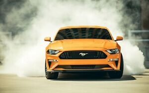 "2018 Ford Mustang GT Fastback Sports Car Auto Art Silk Wall Poster Print 24x36"""